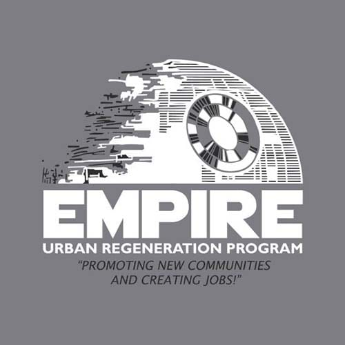 Star Wars Empire Urban Regeneration Program Tshirt