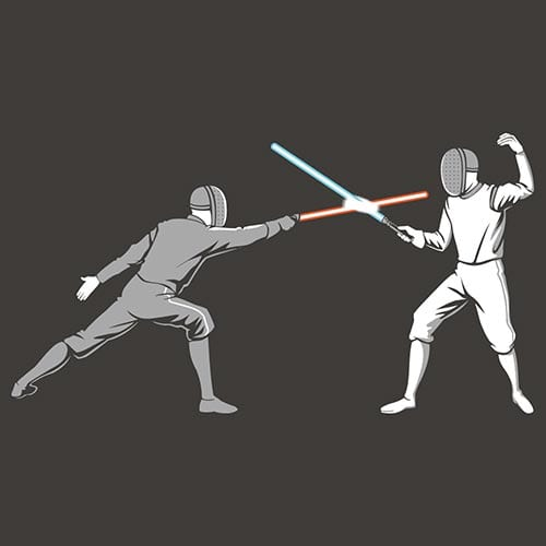 Star Wars Light Fencing Tshirt