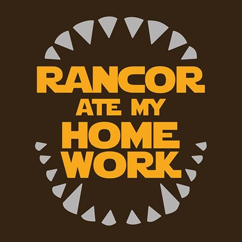 Star Wars Rancor Ate My Homework Tshirt