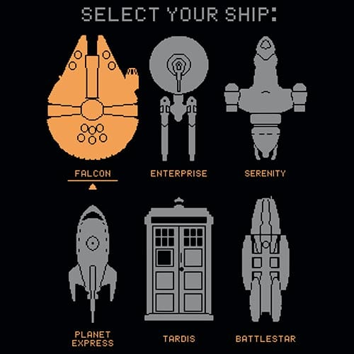 Star Wars Select Your Ship Tshirt