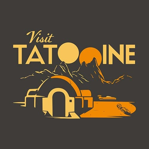 Star Wars Visit Tatooine Tshirt